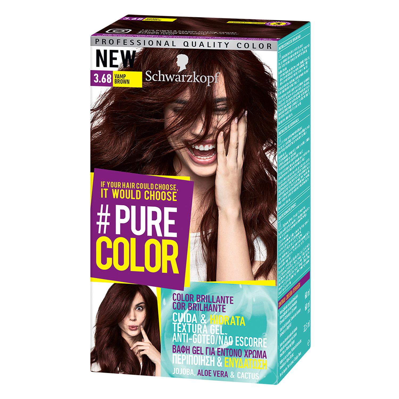 Tinte #Pure Color 3.68 vamp brown Schwarzkopf 1 ud.