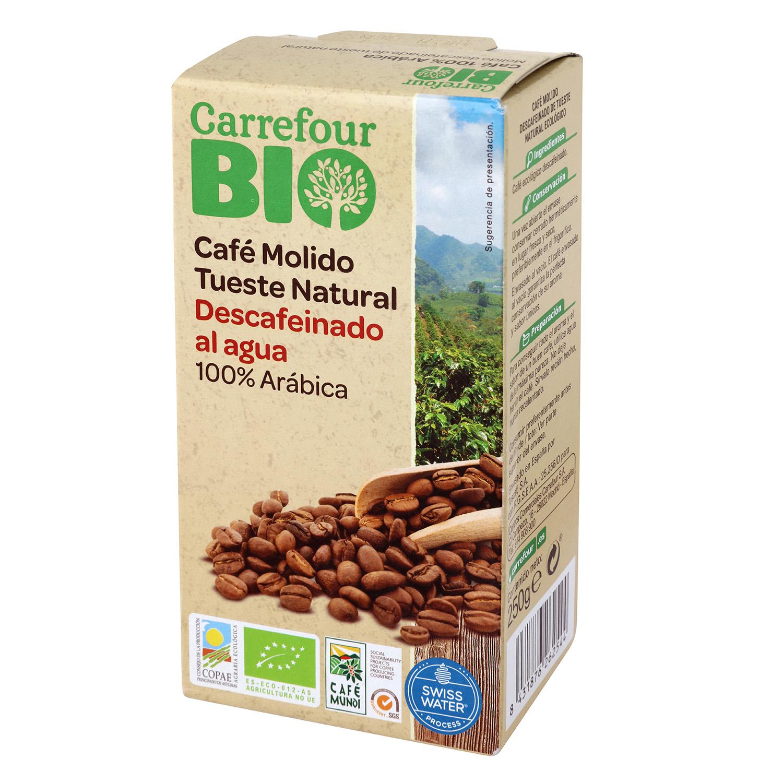 Café molido natural descafeinado arábica Bio