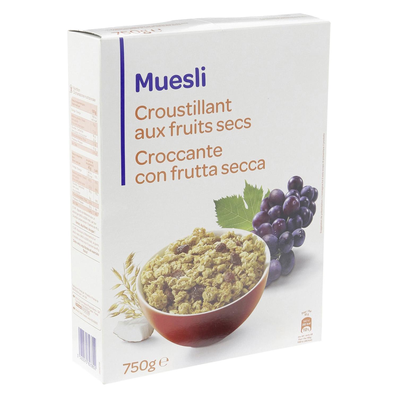 Cereales con frutos secos Muesli 750 g.