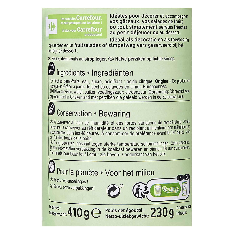 Melocotón en almibar ligero Carrefour 230 g. - 2