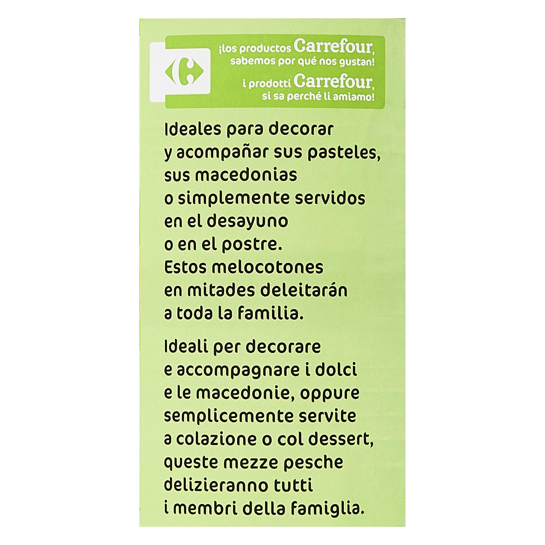 Melocotón en almibar ligero Carrefour 480 g. - 3