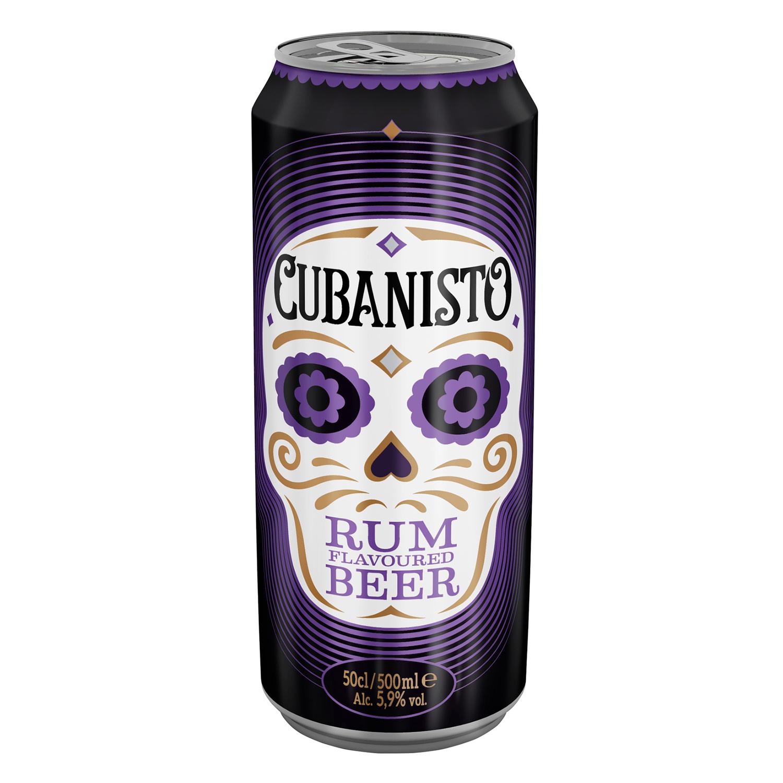 Cerveza Cubanisto sabor ron lata 50 cl.
