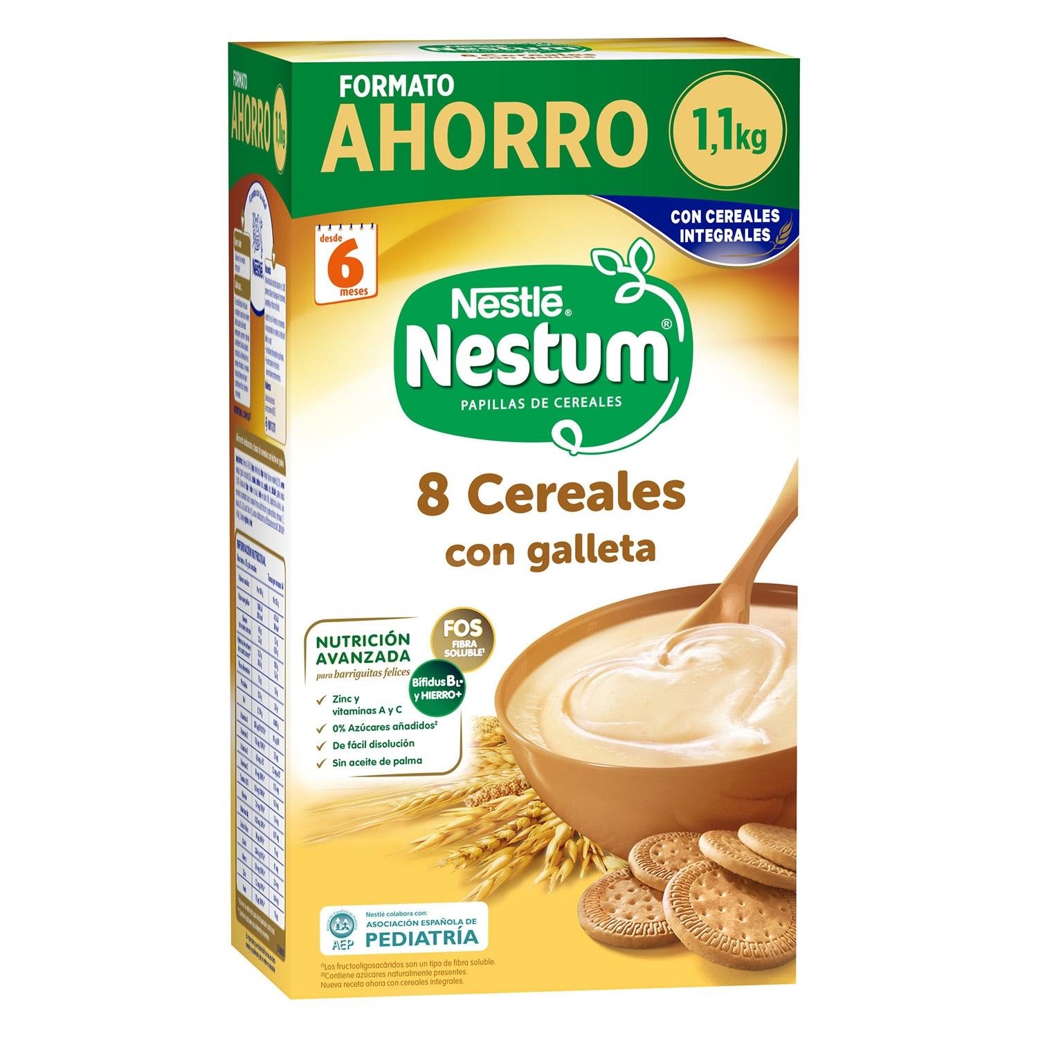 Papilla 8 cereales con galleta