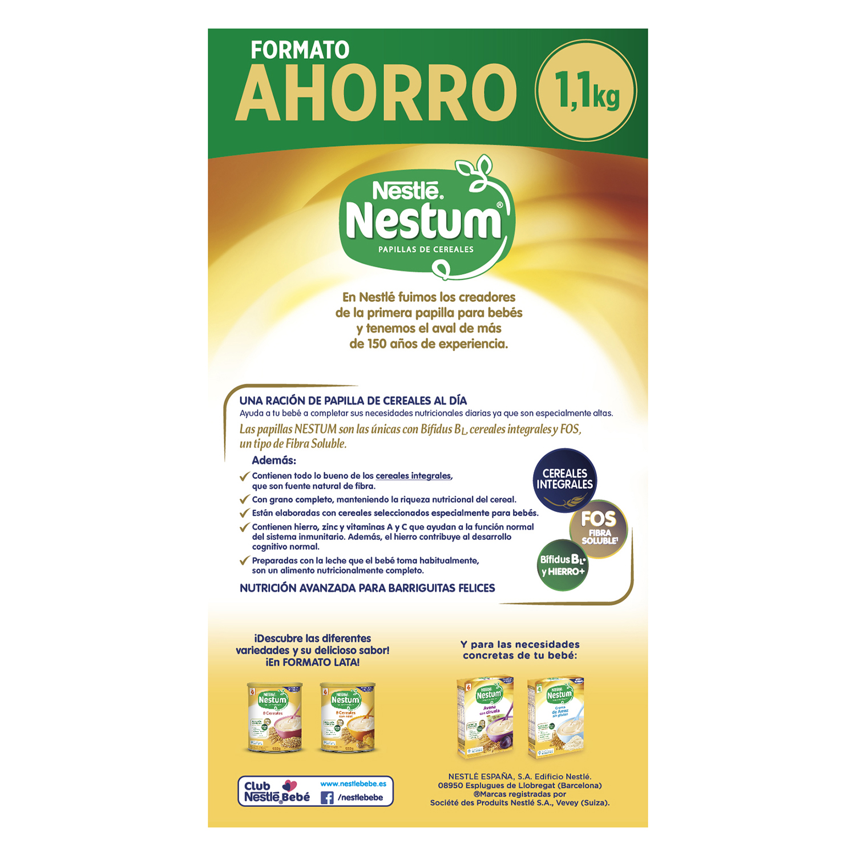 Papilla de 8 cereales con galleta Nestlé Nestum 1100 g. - 2