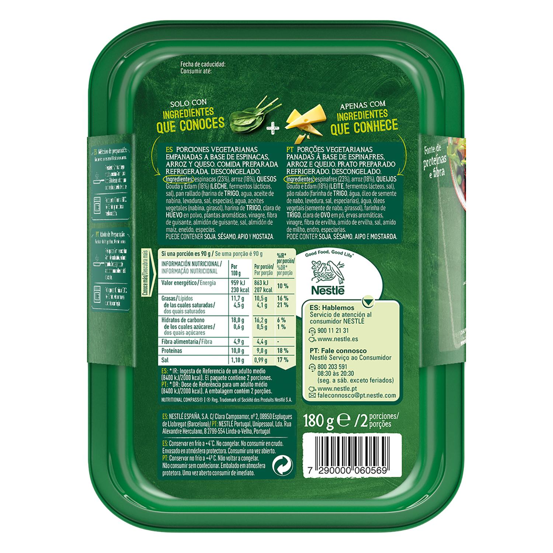 Empanado de espinacas y queso a base de vegetales Garden Gourmet 180 g. -