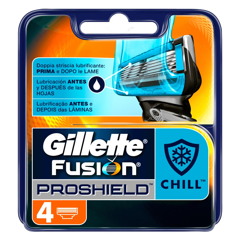 Recambio Fusion Proshield Chill Gillette 4 ud.