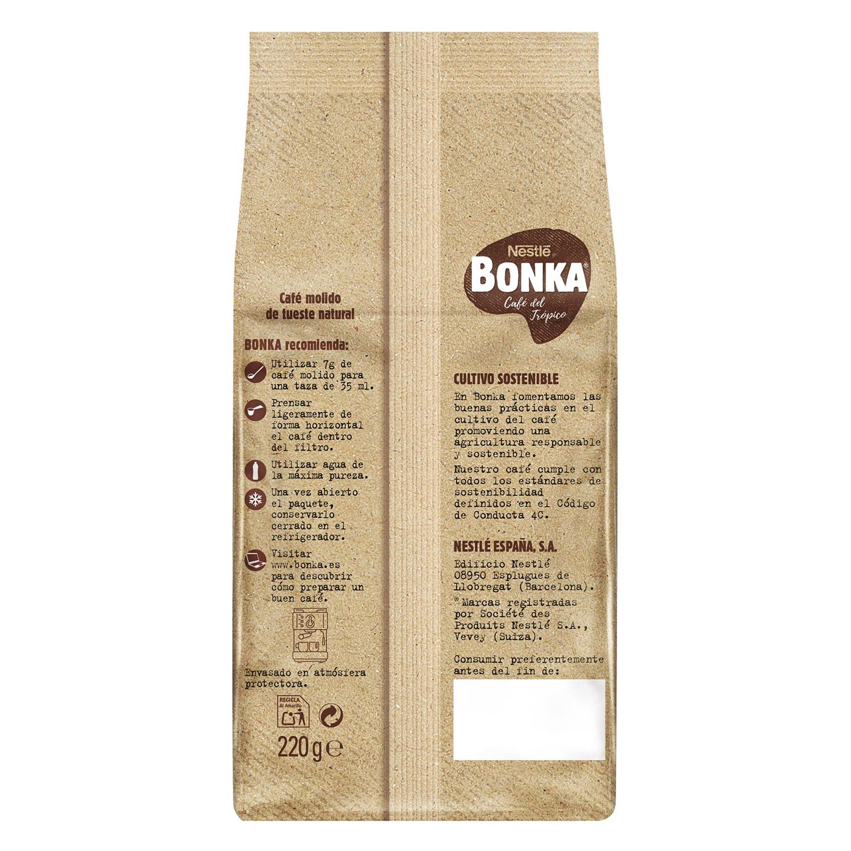 Café molido natural espresso cultivo sostenible Nestlé Bonka 220 g. -