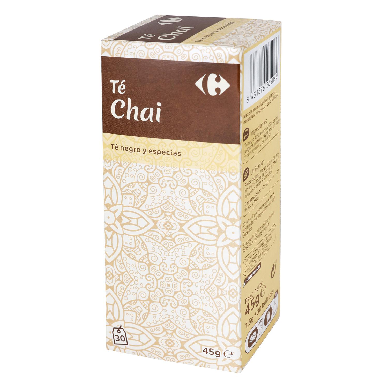 Té negro Chai en bolsitas Carrefour 30 ud.