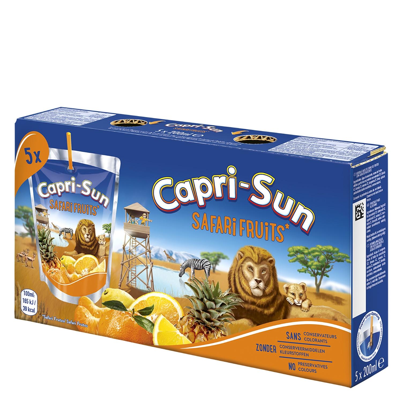 Zumo Capri-Sun Safari Frutas pack de 5 bolsas de 20 cl.