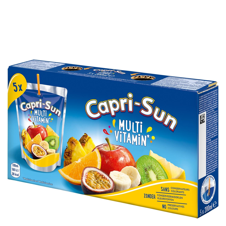 Zumo multivitaminas Capri-Sun pack de 5 bolsas de 20 cl.