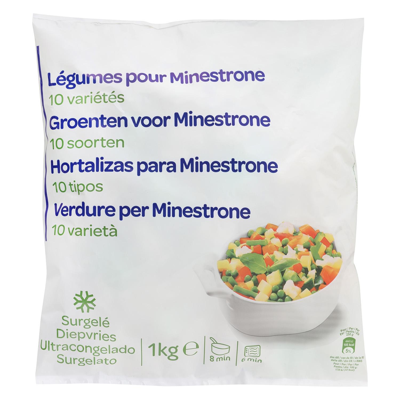 Preparado congelado para minestrone