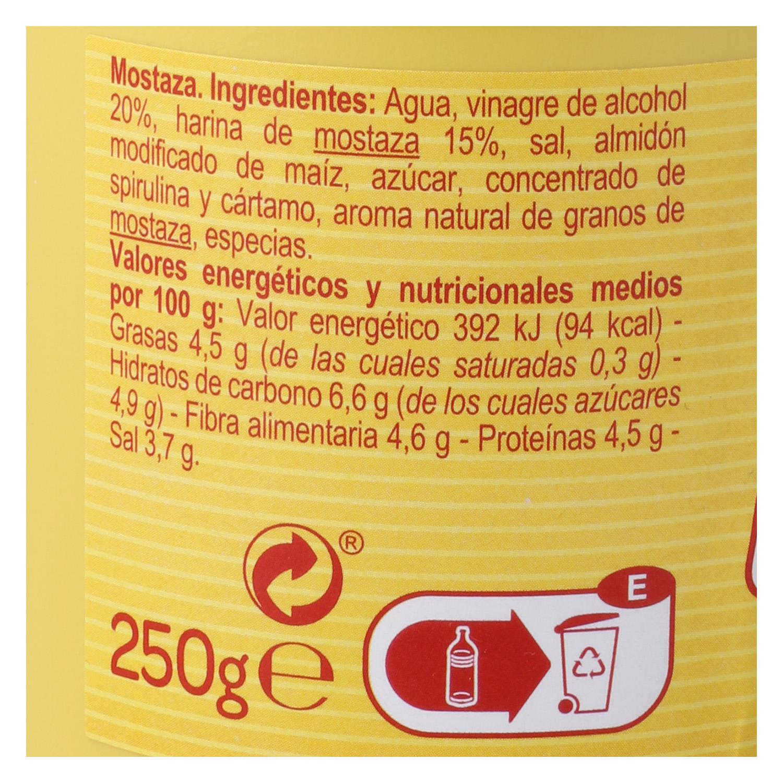 Mostaza Carrefour envase 250 g, -