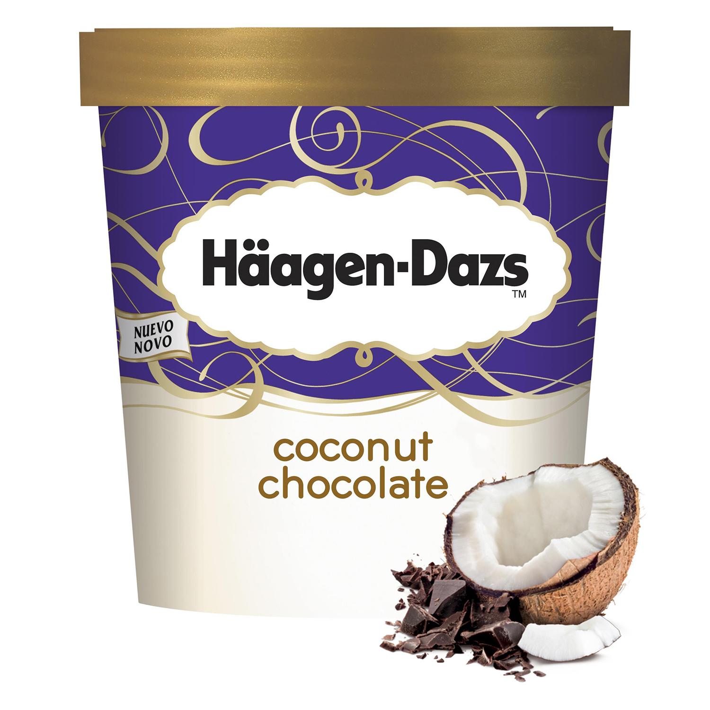 Helado de chocolate de coco Häagen Dazs 500 ml.