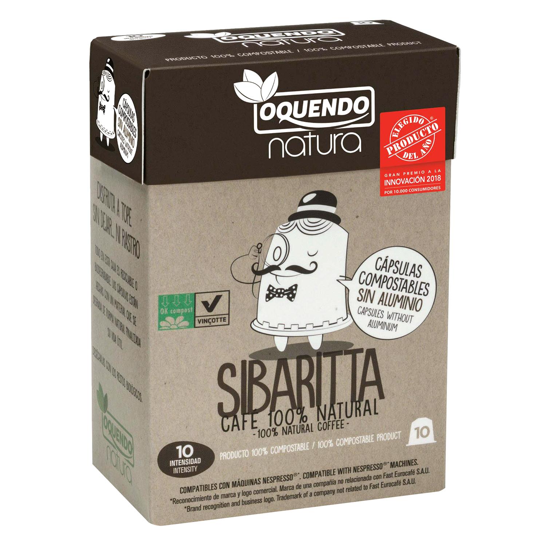 Café sibaritta en cápsulas Oquendo compatible con Nespresso 10 ud.