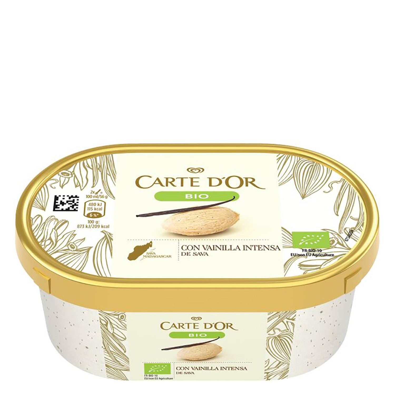 Helado con vainilla intensa ecológico Carte D'or 450 ml.