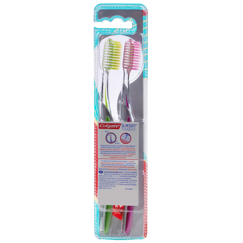 Cepillo dental Slim Soft Colgate 2 ud. - 2
