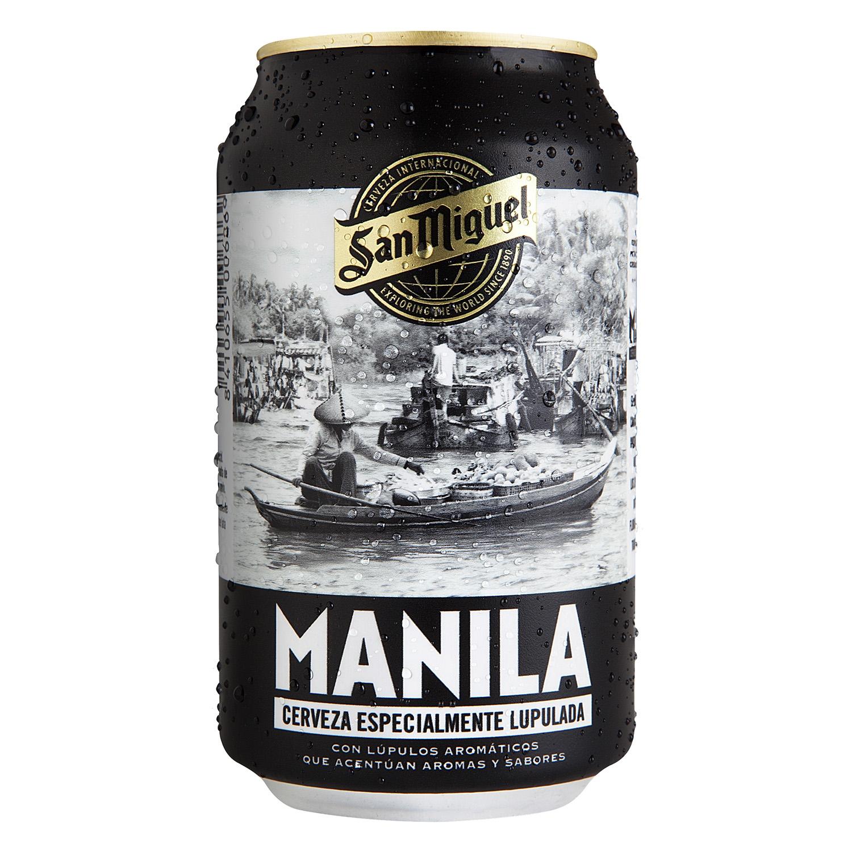 Cerveza San Miguel Manila lata