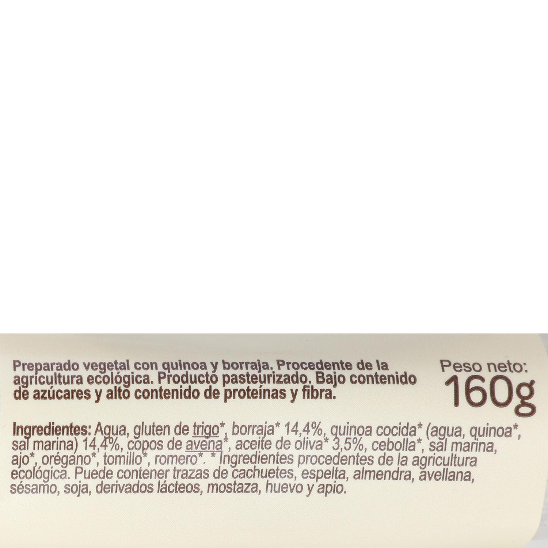 Hamburguesa de quinoa y borraja ecológica Carrefour Bio 160 g. - 3