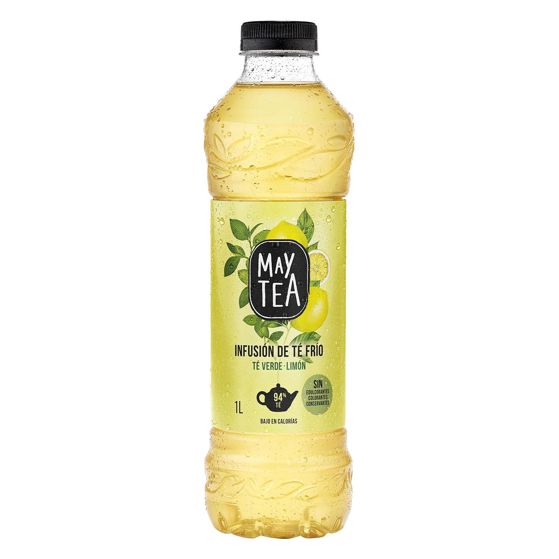 Refresco de té verde May Tea sabor limón botella 1 l.