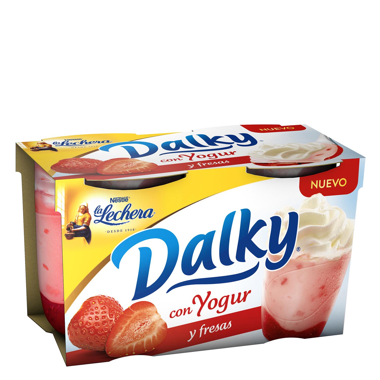 Copa Dalky con yogur y fresas