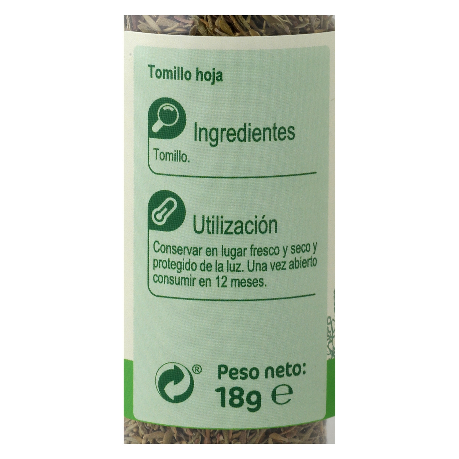 Tomillo Carrefour 18 g. -