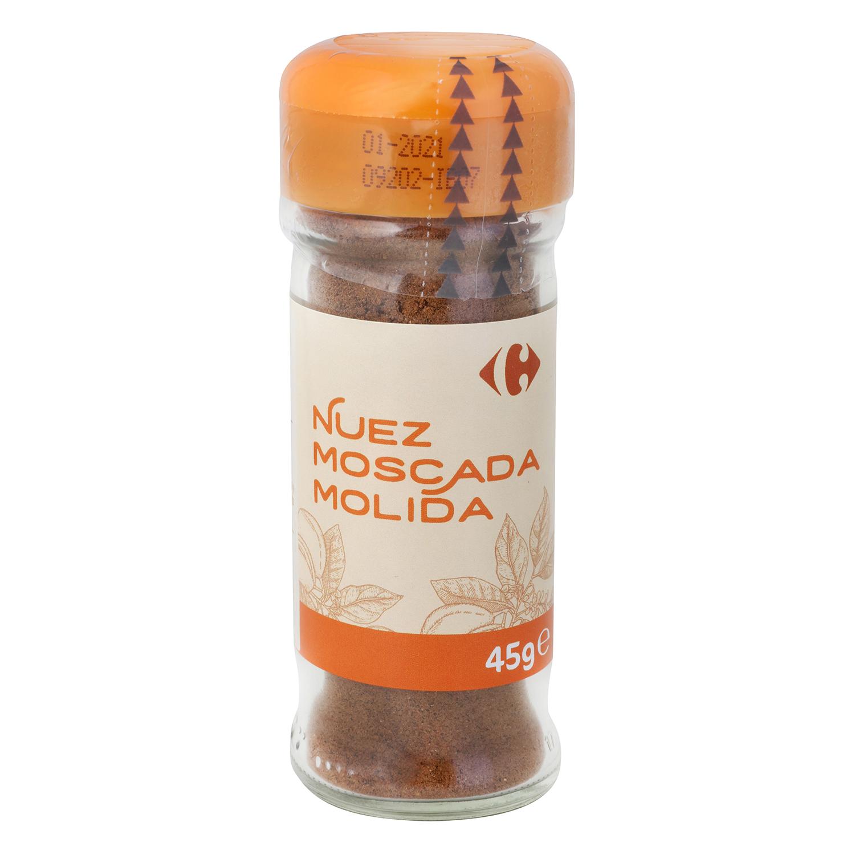 Nuez moscada molida Carrefour 45 g.