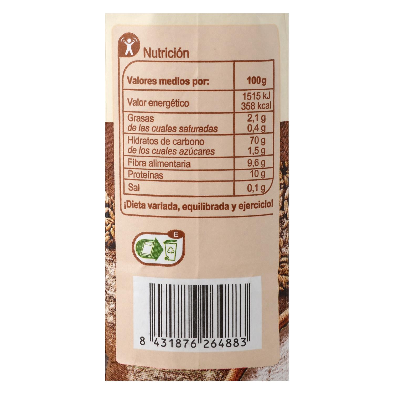 Harina de trigo Carrefour integral 1 kg. - 2