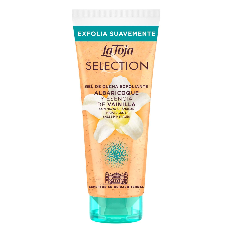 Gel de ducha exfoliante albaricoque y esencia de vainilla Selection La Toja 200 ml.