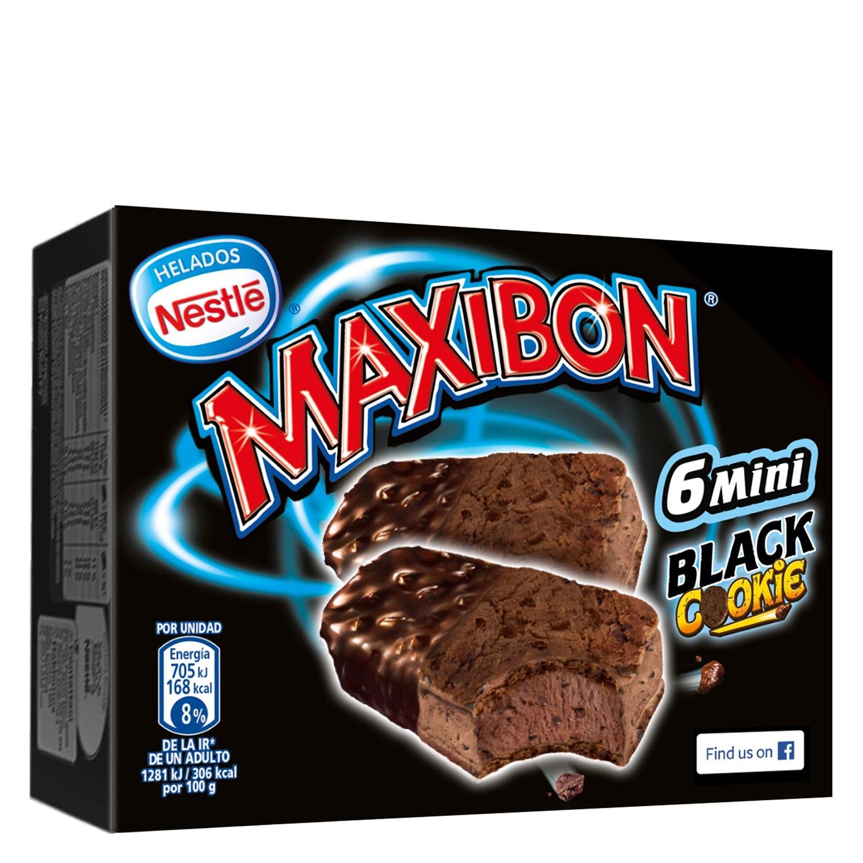 Mini sandwich Black Cookie Maxibon Nestlé Helados 6 ud.