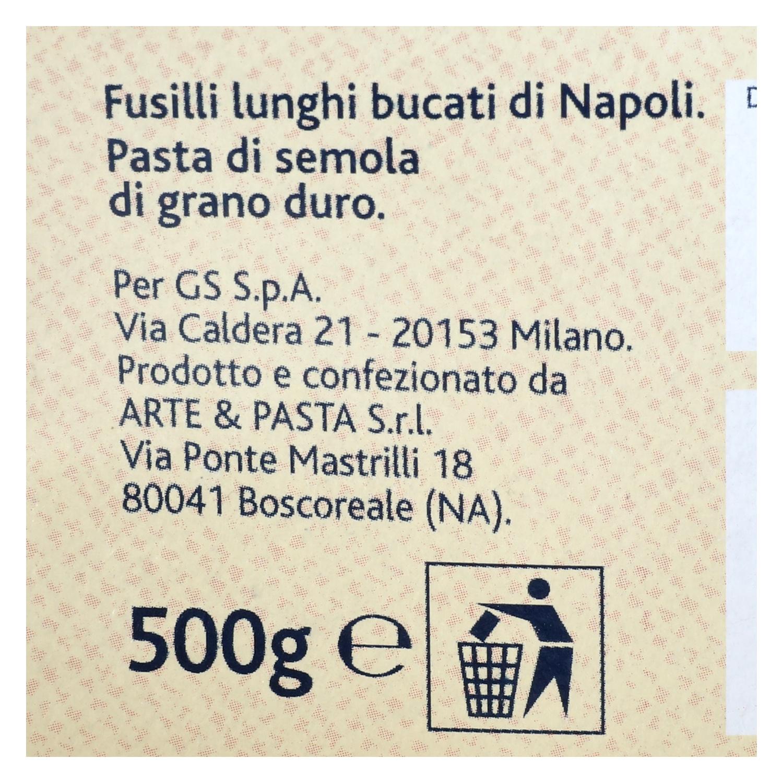 Fusilli lunghi bucati Terre d'Italia 500 g. -