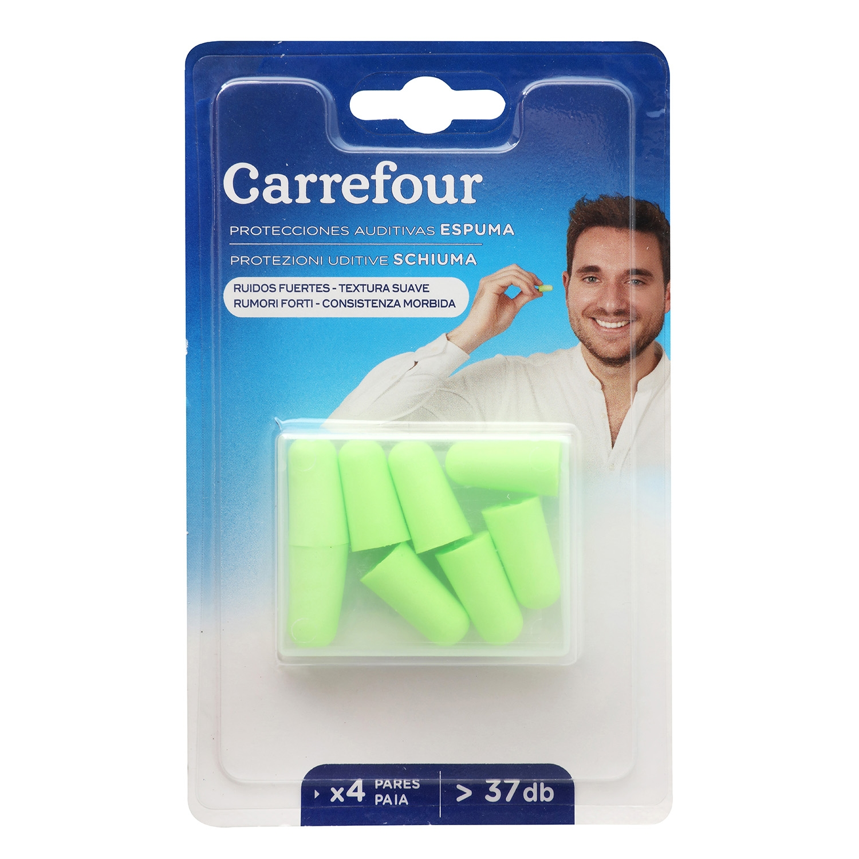 Tapones auditivos de espuma Carrefour 8 ud.