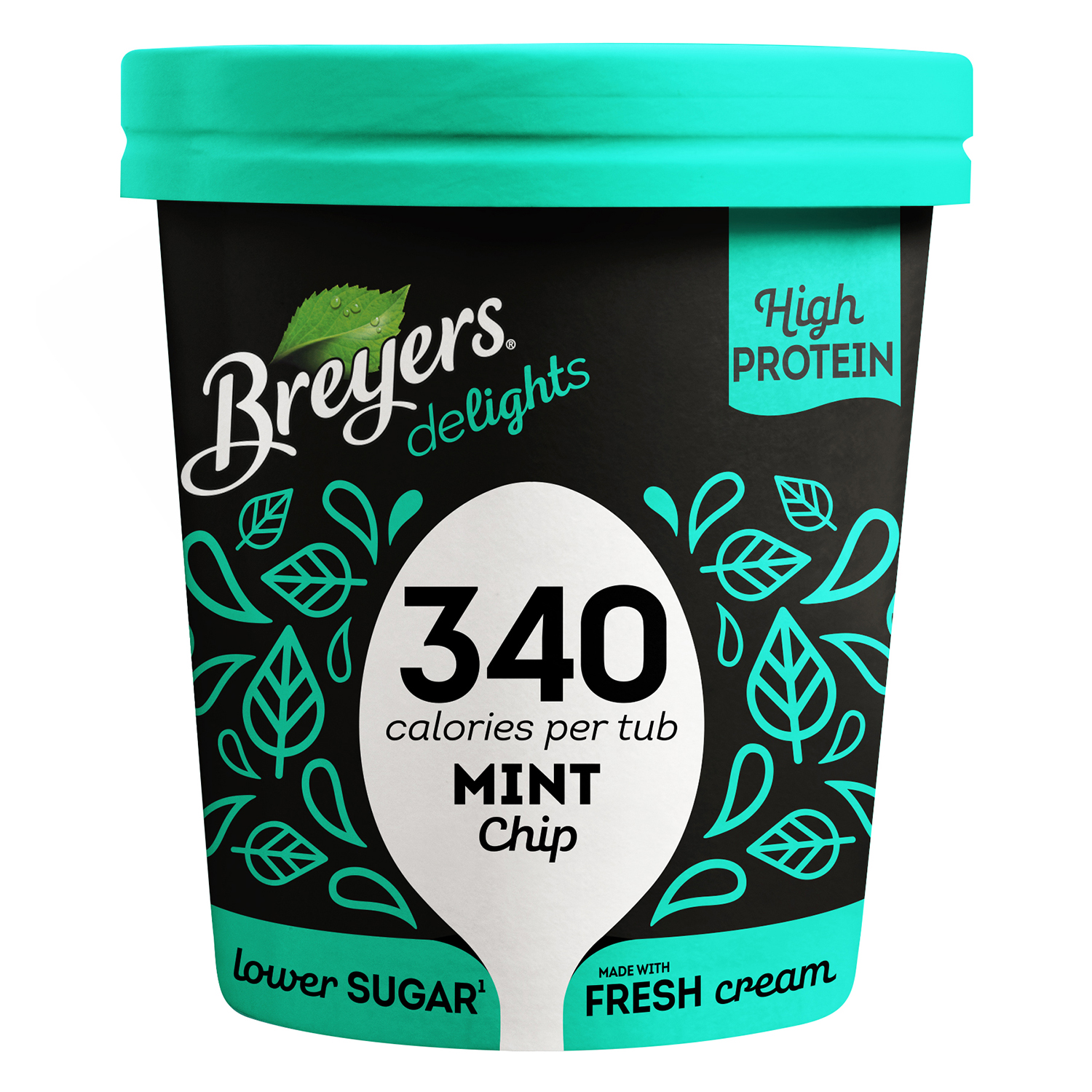 Helado de menta Breyers 500 ml.