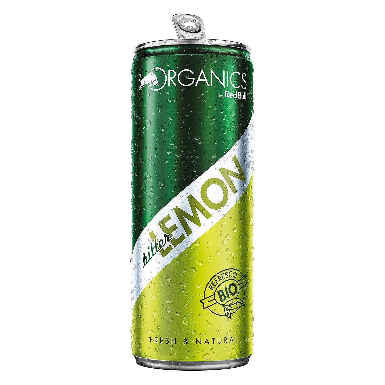 Bitter ecológico Redbull - Organics sabor limón lata 25 cl.