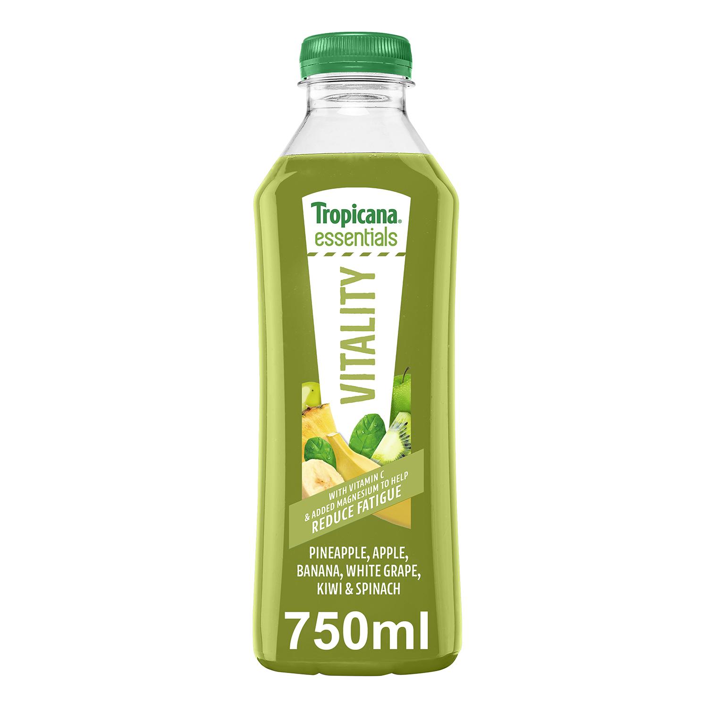 Zumo Tropicana Vitality botella 75 cl.