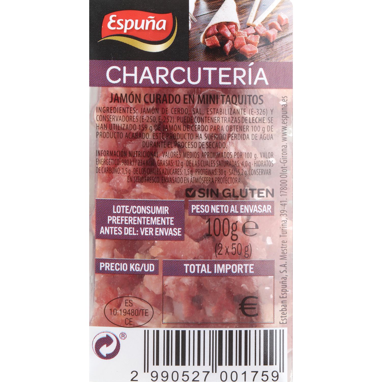 Mini taquitos de jamón curado Espuña 2x50g, 100 g - 3