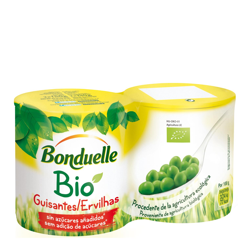 Guisantes bio sin azúcares añadidos