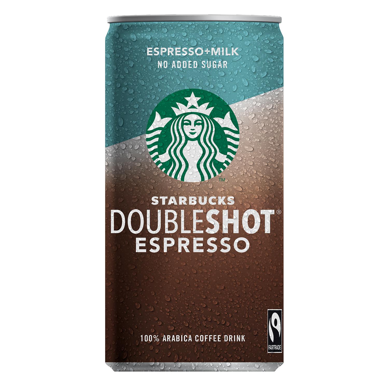 Café con leche sin azúcares añadidos Starbucks sin lactosa 200 ml.