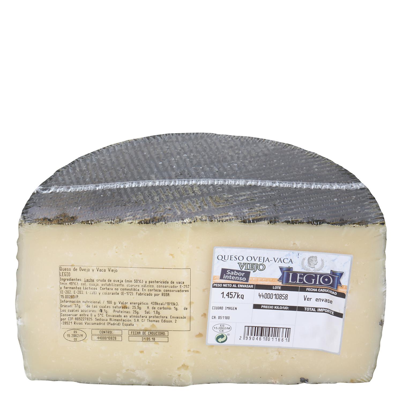 Queso de mezcla viejo oveja y vaca Legio 1/2 pieza 1,5 Kg  - 2