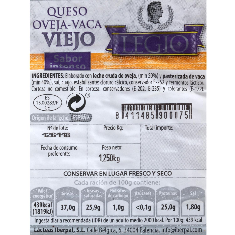 Queso de mezcla viejo oveja y vaca Legio 1/2 pieza 1,5 Kg  - 3