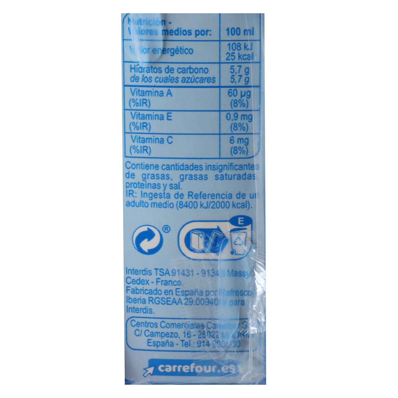Bebida de piña Carrefour sin azúcar pack de 6 briks de 20 cl. -
