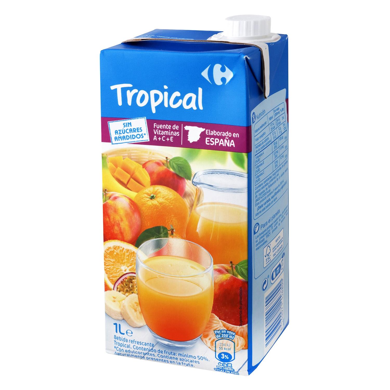 Zumo tropical sin azúcares añadidos
