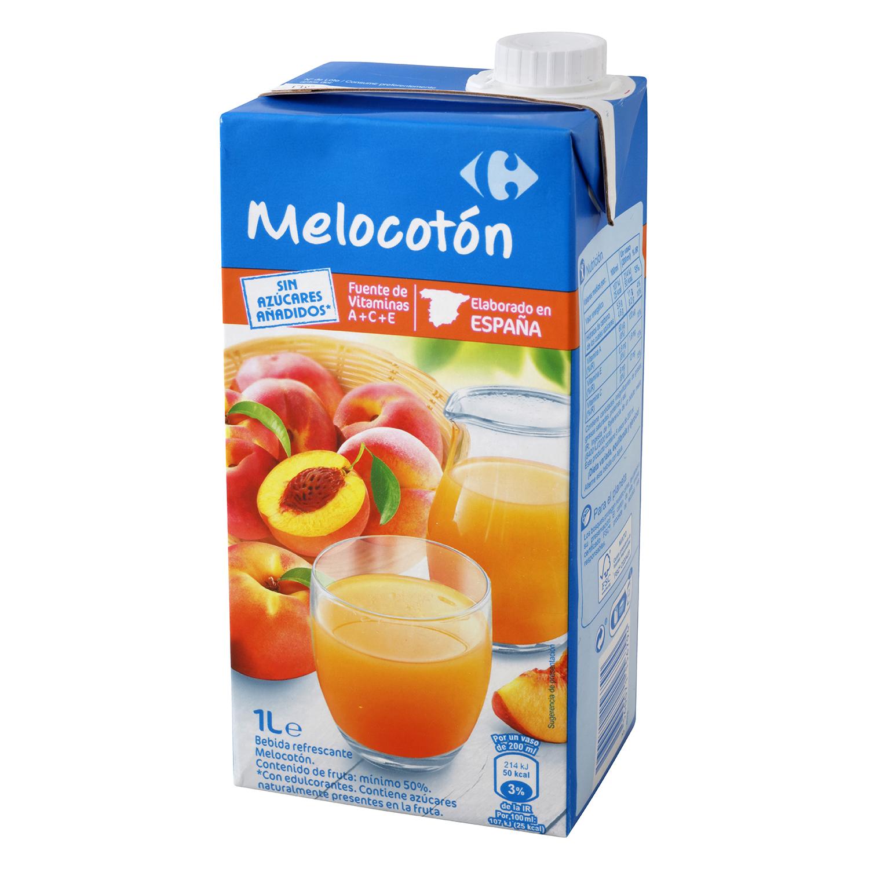 Bebida de melocotón Carrefour sin azúcar pbrik 1 l.