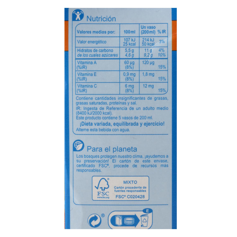 Bebida de melocotón Carrefour sin azúcar pbrik 1 l. -