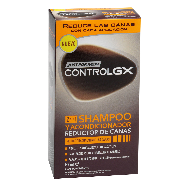 Champú y acondicionador reductor de canas Control GX Just for men 147 ml.