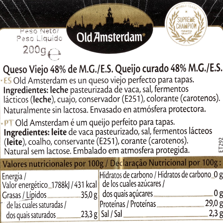 Queso gouda curado cortadas Old Amsterdam Westland 200 g - 2