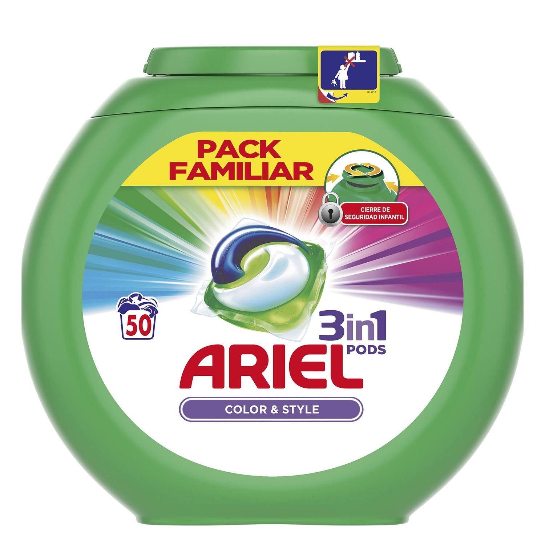 Detergente 3 en 1 en cápsulas Color & Style