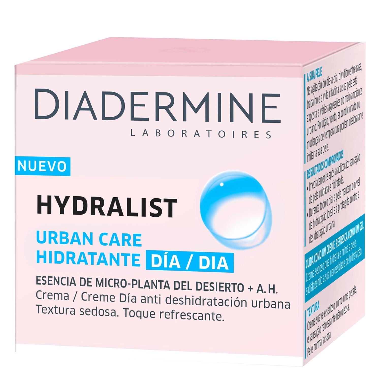 Crema de día anti deshidratación urbana Hydralist textura sedosa. Toque refrescante