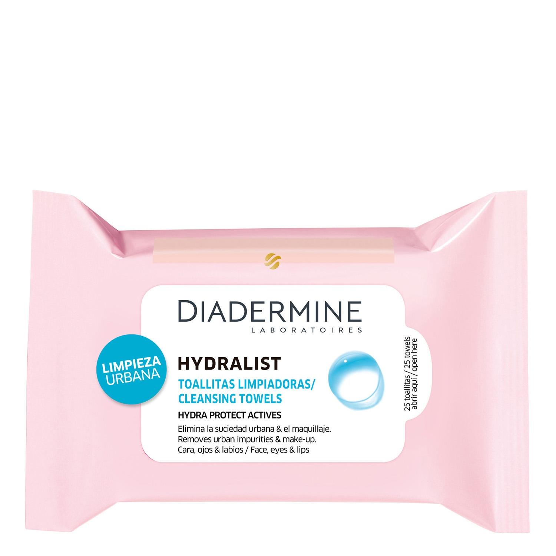 Toallitas limpiadoras Hydralist Diadermine 25 ud.