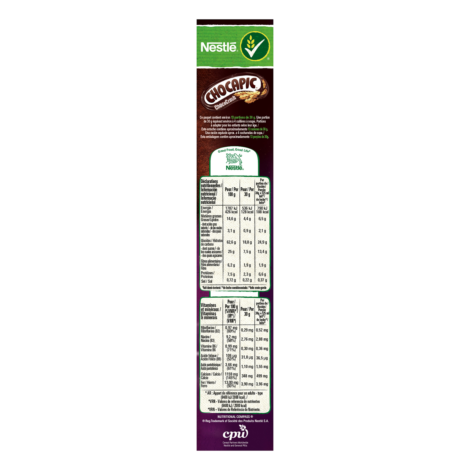 Cereales ChocoCrush Chocapic Nestlé 410 g. - 2