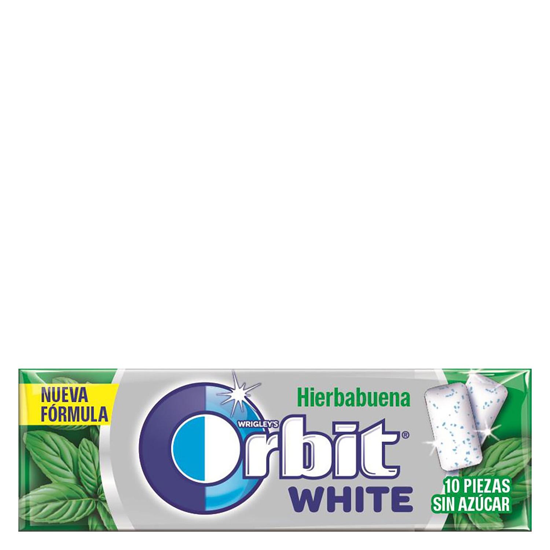 Chicles sabor hierbabuena White Orbit 10 ud.